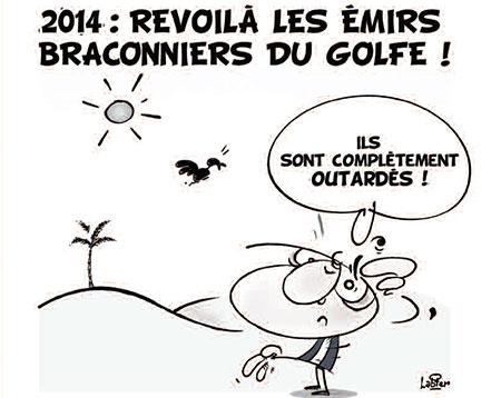 2014: Revoilà les émirs braconniers du golfe - Vitamine - Le Soir d'Algérie - Gagdz.com