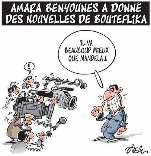 Amara Benyounes a donné des nouvelles de Bouteflika