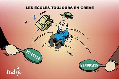 Les écoles toujours en grève - Ghir Hak - Les Débats - Gagdz.com