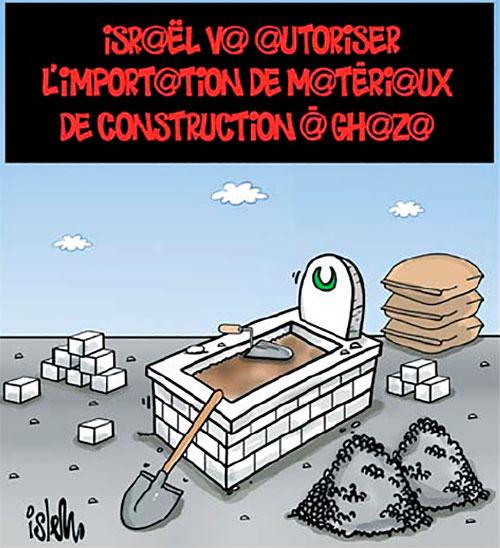 Israël va autoriser l'importation de matériaux de construction à Ghaza