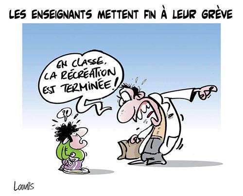 Les enseignants mettent fin à leur grève - Lounis Le jour d'Algérie - Gagdz.com