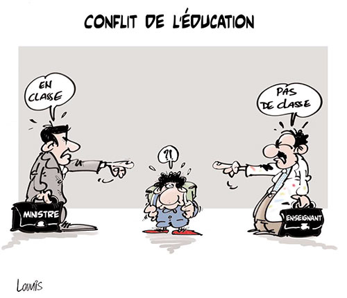 Conflit de l'éducation - Lounis Le jour d'Algérie - Gagdz.com