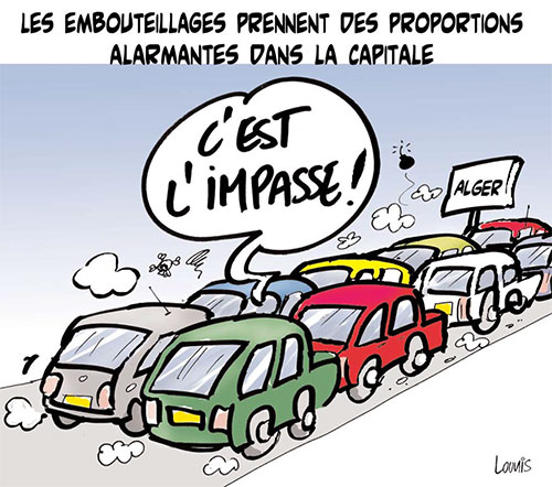 Les embouteillages prennet des proportions alarmantes dans la capitale - Lounis Le jour d'Algérie - Gagdz.com