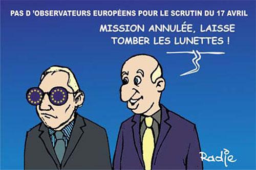 Pas d'observateurs européens pour le scrutin du 17 avril - Ghir Hak - Les Débats - Gagdz.com