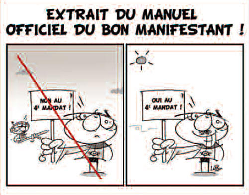 Extrait du manuel officiel du bon manifestant - Vitamine - Le Soir d'Algérie - Gagdz.com