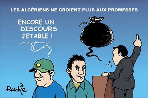 Les Algériens ne croient plus aux promesses - Ghir Hak - Les Débats - Gagdz.com