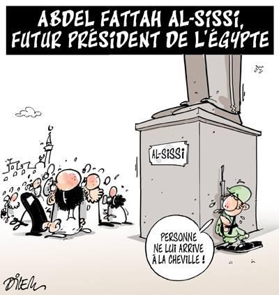 Abdel Fatah Al-Sissi futur président de l'Égypte - Dilem - TV5 - Gagdz.com