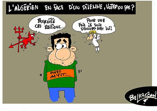 L'algérien en face d'un dilemme, voter ou pas ? - Belkacem - Le Courrier d'Algérie - Gagdz.com
