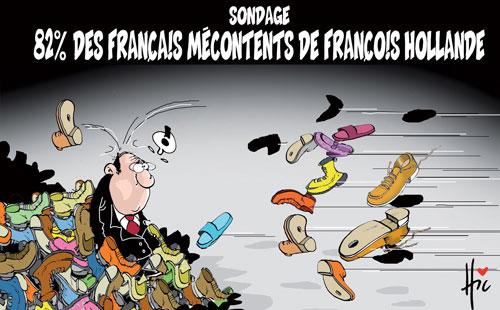 Sondage: 82% des français mécontents des François Hollande - Le Hic - El Watan - Gagdz.com
