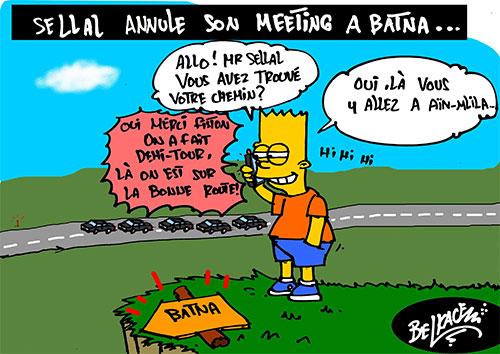 Sellal annule son meeting à Batna - Belkacem - Le Courrier d'Algérie - Gagdz.com