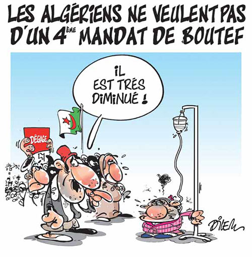 Les Algériens ne veulent pas d'un 4ème mandat de boutef