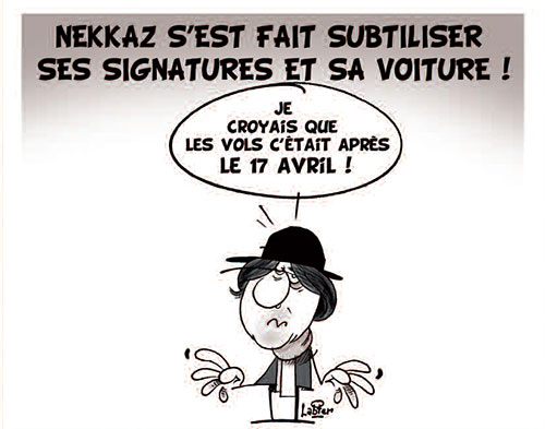 Nekkaz s'est fait subtiliser ses signatures et sa voiture - Vitamine - Le Soir d'Algérie - Gagdz.com
