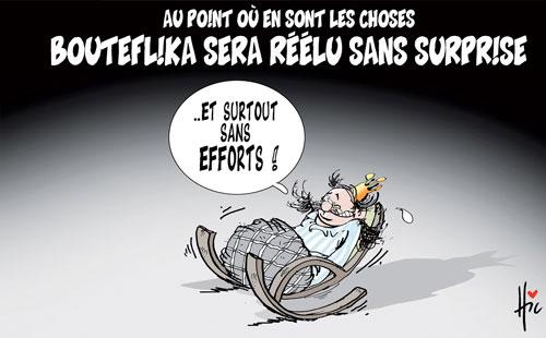 Au point ou en sont les choses: Bouteflika sera réélu sans surprise