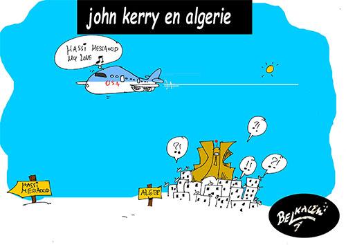 John Kerry en Algérie - Belkacem - Le Courrier d'Algérie - Gagdz.com