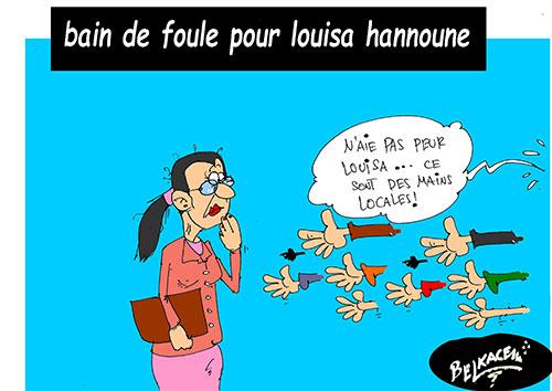 Bain de foule pour louisa hanoune - Belkacem - Le Courrier d'Algérie - Gagdz.com