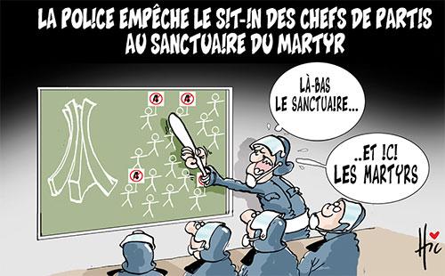 La police empêche le sit-in des chefs de partis au sanctuaire du martyr - Le Hic - El Watan - Gagdz.com