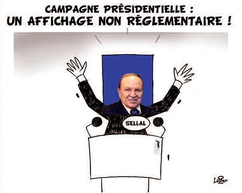 Campagne présidentielle: Un affichage non réglementaire - Vitamine - Le Soir d'Algérie - Gagdz.com