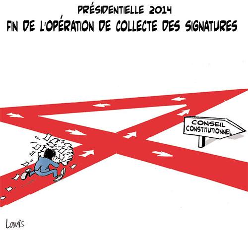 Présidentielle 2014: Fin de l'opération de collecte des signatures - Lounis Le jour d'Algérie - Gagdz.com