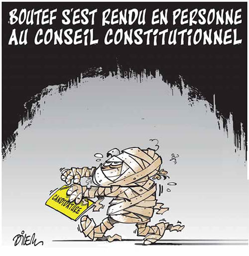 Boutef s'est rendu en personne au conseil constitutionnel
