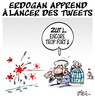 Erdogan apprend à lancer des tweets - Dilem - TV5 - Gagdz.com