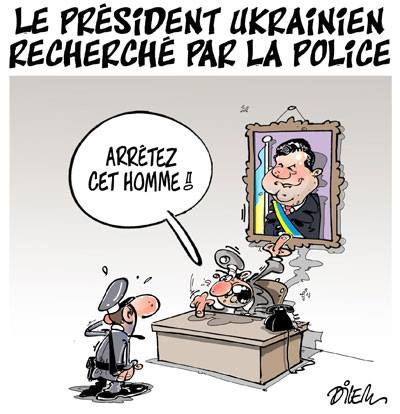 Le président ukrainien recherché pas la police - Dilem - TV5 - Gagdz.com