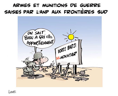 Armes et munitions de guerre saisies par l'anp aux frontières sud - Lounis Le jour d'Algérie - Gagdz.com
