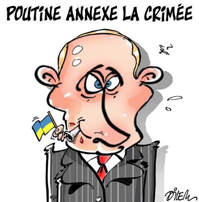 Poutine annexe la Crimée - Dilem - TV5 - Gagdz.com