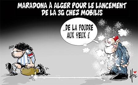 Maradona à Alger pour le lancement de la 3G chez mobilis - Le Hic - El Watan - Gagdz.com