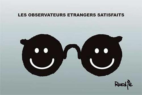 Les observateurs étrangers satisfaits