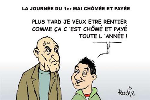 La journée du 1er mai chômée et payée - Ghir Hak - Les Débats - Gagdz.com