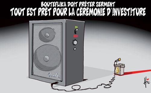 Bouteflika doit prêter serment: Tout est prêt por la cérémonie d'investiture