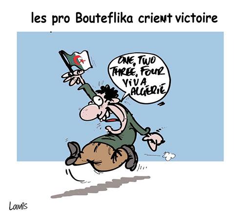 Les pro Bouteflika crient victoire - Lounis Le jour d'Algérie - Gagdz.com