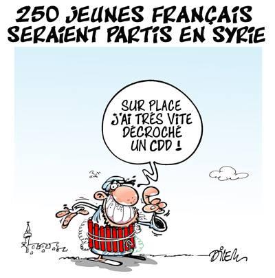 250 jeunes français seraient partis en Syrie - Dilem - TV5 - Gagdz.com