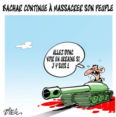 Bachar continue a massacrer son peuple - Dilem - TV5 - Gagdz.com