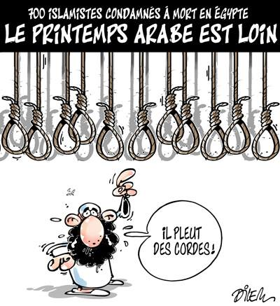 700 islamistes condamnés à mort en Egypte, le printemps arabe est loin - Dilem - TV5 - Gagdz.com