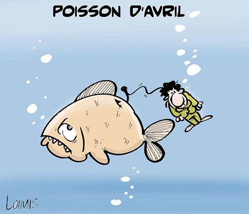 Poisson d'avril - Lounis Le jour d'Algérie - Gagdz.com