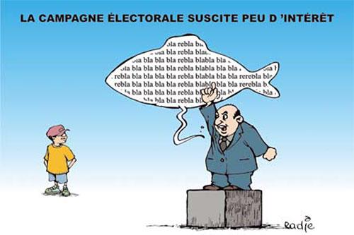 La campagne électorale sucite peu d'interêt - Ghir Hak - Les Débats - Gagdz.com