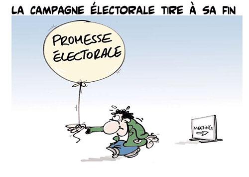La campagne électorale tire à sa fin