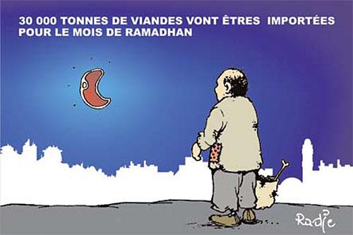 30 000 tonnes de viandes vont êtres importées pour le mois de ramadhan - Ghir Hak - Les Débats - Gagdz.com