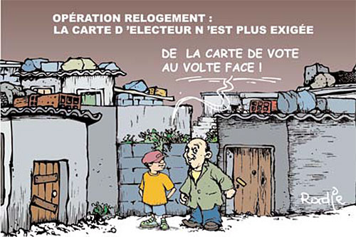 Opération relogement: La carte d'électeur n'est plus exigée