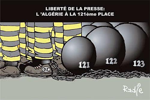 Liberté de la presse: L'Algérie à la 121ème place