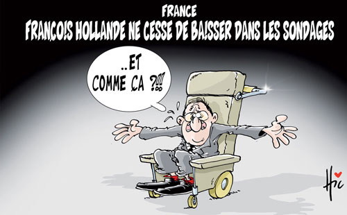 France: François Hollande ne cesse de baisser dans les sondages - Le Hic - El Watan - Gagdz.com