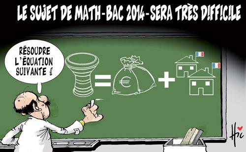 Le sujet de math-bac 2014- sera très difficile - Le Hic - El Watan - Gagdz.com