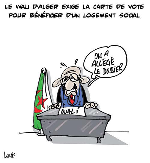 Le wali d'Alger exige la carte de vote pour bénéficier d'un logement social
