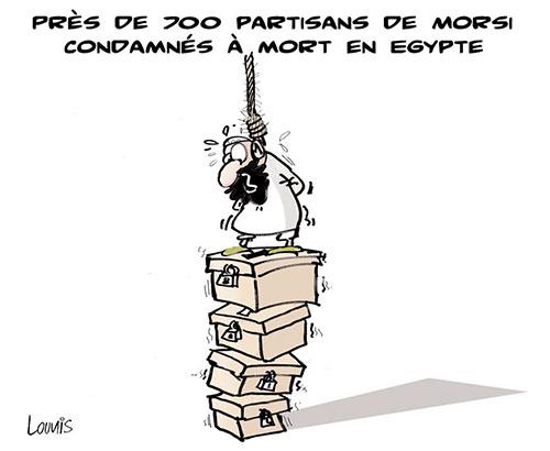 Près de 700 partisans de Morsi condamnés à mort en Egypte - Lounis Le jour d'Algérie - Gagdz.com