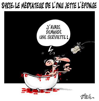 Syrie, le médiateur de l'ONU jette l'éponge - Dilem - TV5 - Gagdz.com