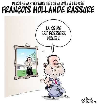 Deuxième anniversaire de son arrivée à l'Élysée, François Hollande rassure - Dilem - TV5 - Gagdz.com