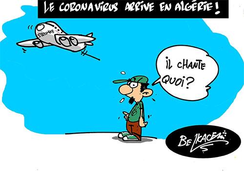 Le coronavirus arrive en Algérie - Belkacem - Le Courrier d'Algérie - Gagdz.com