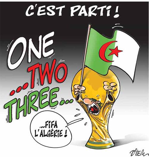 Coupe du monde 2014, one two three, viva l'Algérie