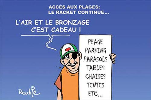 Accès aux plages: Le racket continue - Ghir Hak - Les Débats - Gagdz.com